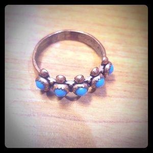 Solid copper vintage ring